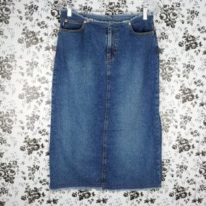 It Jeans denim pencil skirt with frayed edges